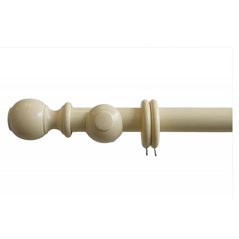 28mm cream ball curtain poles. Black Bedroom Furniture Sets. Home Design Ideas