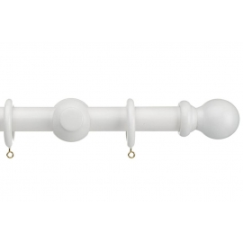 28mm White Curtain Pole