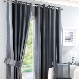 Monaco Pewter Thermal Curtains