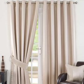 Monaco Natural Thermal Eyelet Curtains