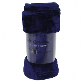 Royal Blue Mink Throw