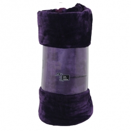 Aubergine Mink Throw