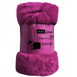 Pink Mink Throw