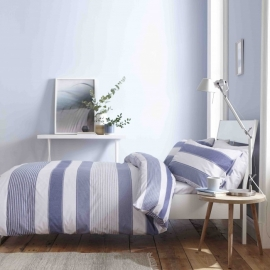 Catherine Lansfield Newquay Blue Stripe Duvet Set