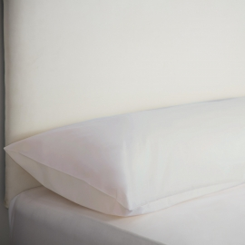 Bolster Pillow Cases - White