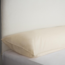 Bolster Pillow Cases - Ivory