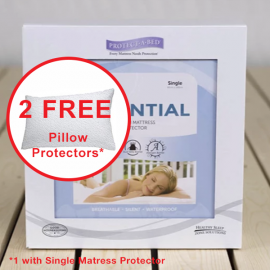 Protect-A-Bed Essential Smooth Mattress Protector with FREE Pillow Protectors
