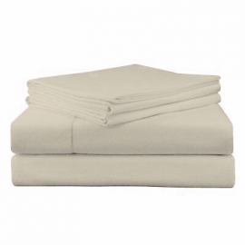 Velvet Flannel Deep Fitted Sheet Sets - Cream