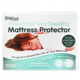 DreamEasy Breathable Waterproof 4ft Mattress Protector