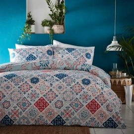 Morocco Teal  Quilt Cover