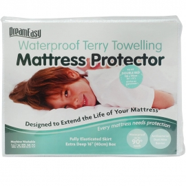 DreamEasy Breathable Waterproof Mattress Protector