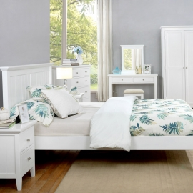 The Lily Bedroom Collection with rose bed