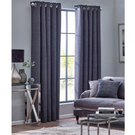 Belfield Orion Graphite Eyelet curtains