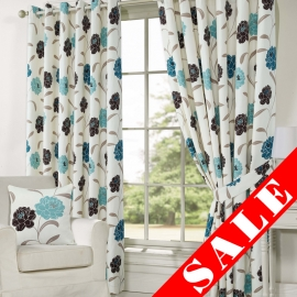 Isobel Teal Eyelet Curtain