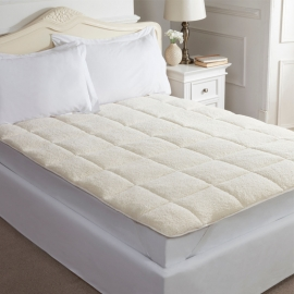 "EA Luxury Mattress Topper ""Fleece"" Lamb White"